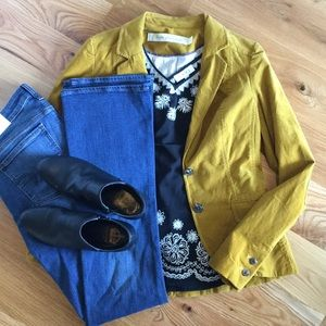 Anthropologie Mustard Blazer